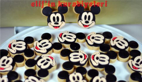 Mickey Mouse Kurabiye